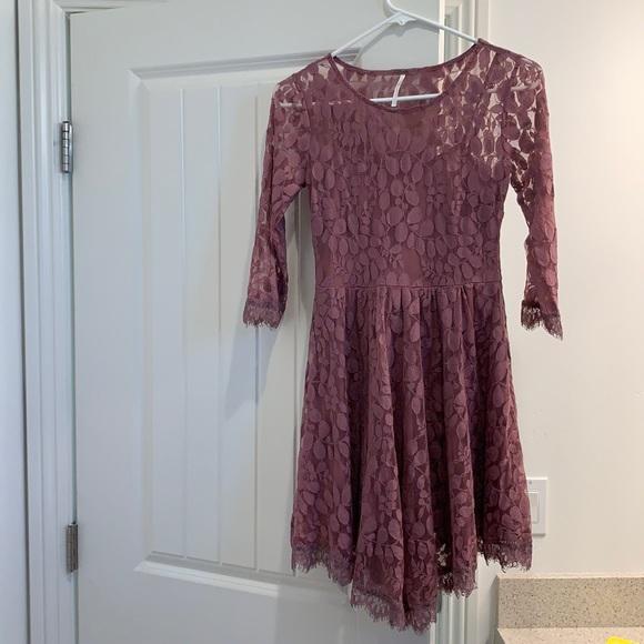 Purple Free People Mini Dress